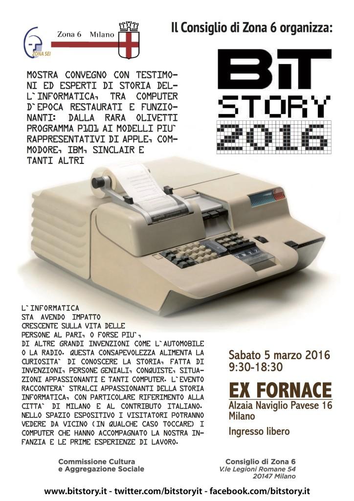 BitStory 2016 locandina Milano