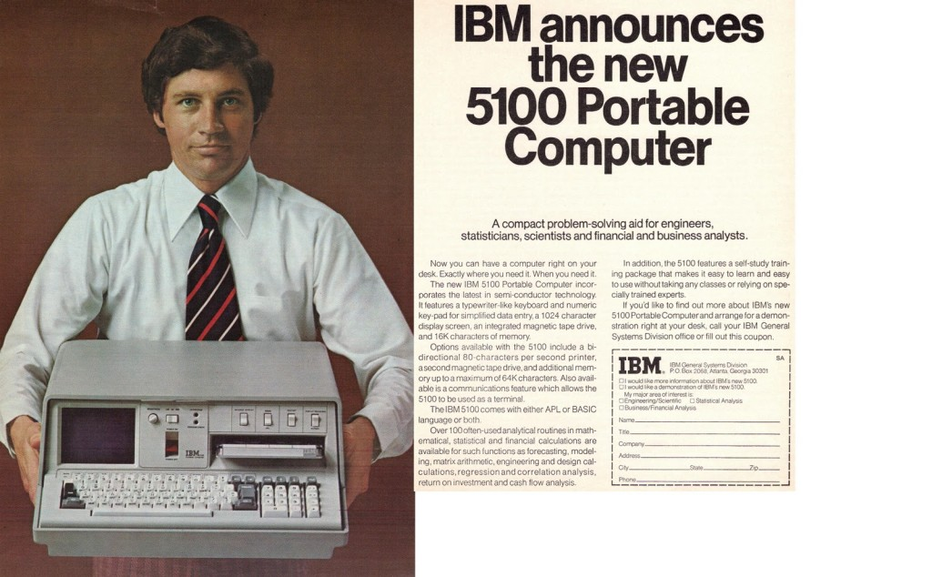 ibm 5100 advertising john titor