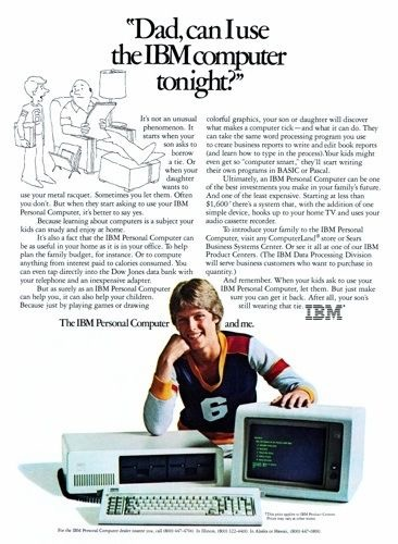 personal computer ibm advertising 1983