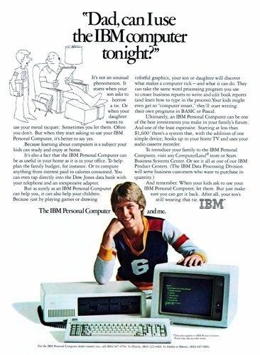 personal computer ibm advertising 1983
